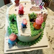 佩琪一家做游戏蛋糕