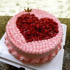 水果爱心蛋糕