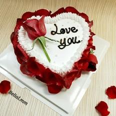 爱心玫瑰花蛋糕