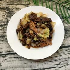 滑子菇、白菜炒里脊