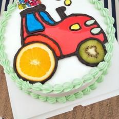 拖拉机图案蛋糕的做法
