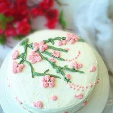 梅花奶油蛋糕