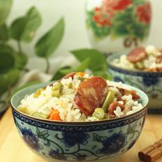 腊肠豆角焖饭