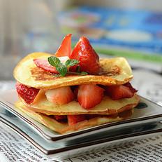蜂蜜草莓松饼