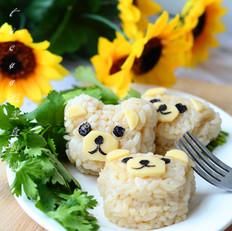 小熊肉松饭团