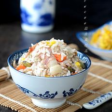 培根萝卜焖饭