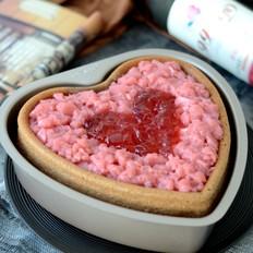 8寸心形草莓冻海绵蛋糕