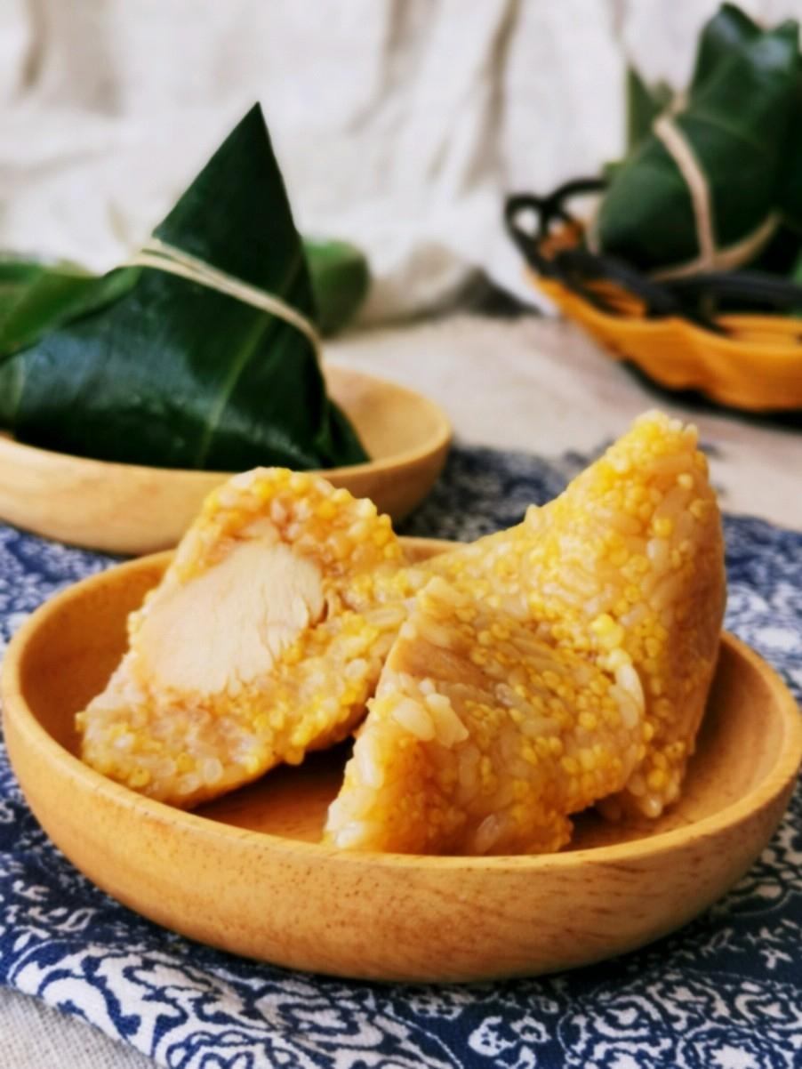 大黄米鸡胸肉粽