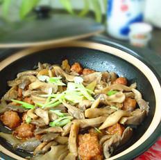 平菇丸子煲