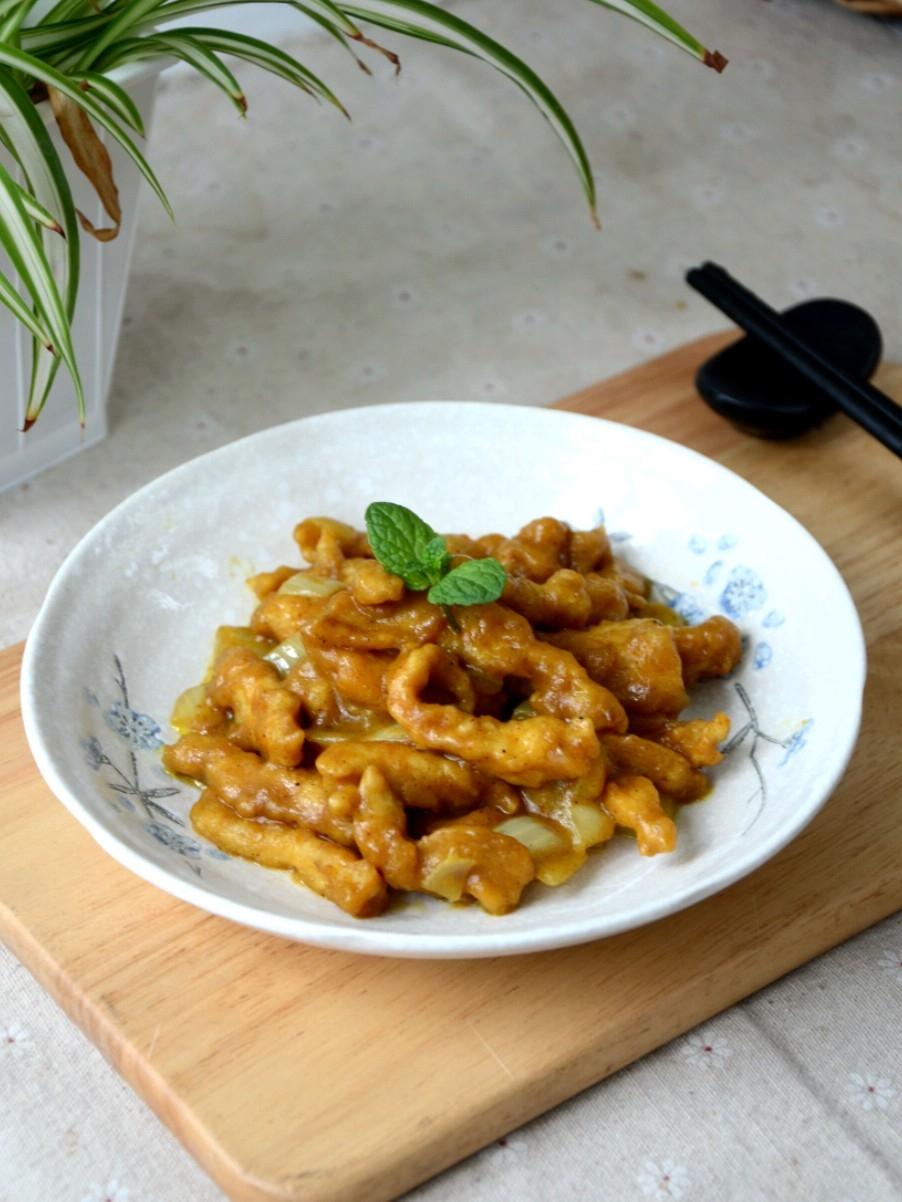 咖喱溜肉段的做法