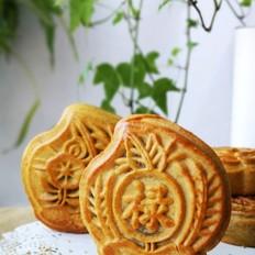 藜麦芋泥双蛋黄月饼