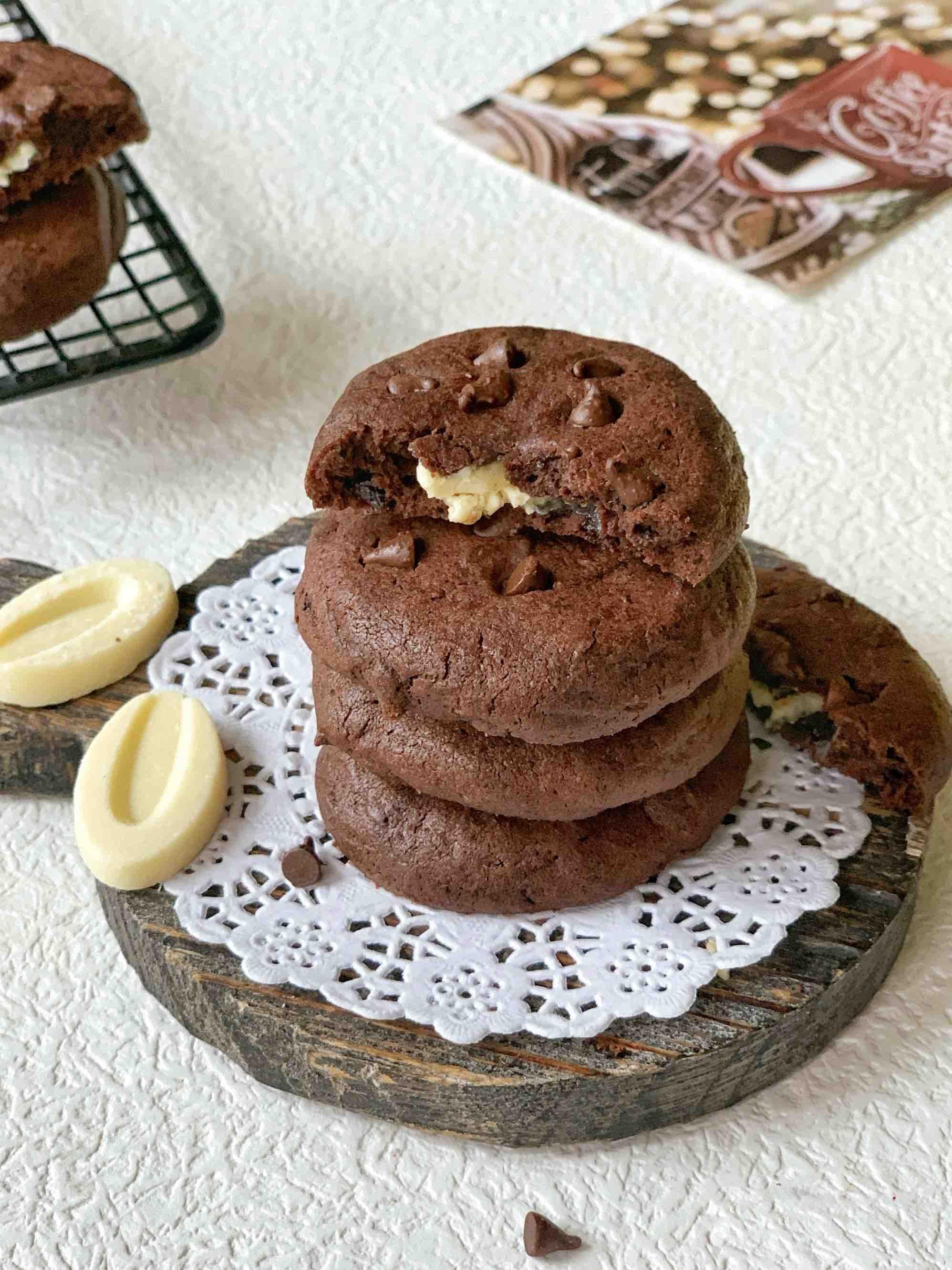 三重巧克力饼干,这是什么神仙口味的做法