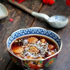 汤色酱红香甜润滑的桂花糖芋苗