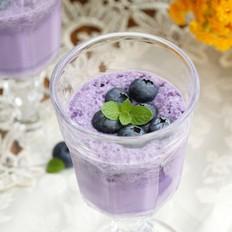 蓝莓牛奶冰沙