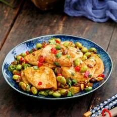 酱香素鸡炒毛豆的做法