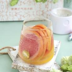 冰爽怡人的柠柚气泡水的做法