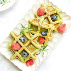 斑斓华夫饼的做法