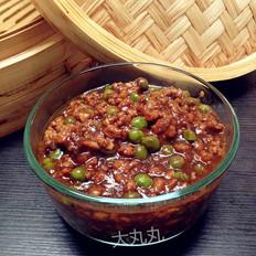 豌豆牛肉末炸酱