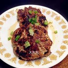 香煎豆腐牛肉饼