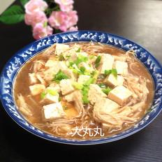 金针菇烧豆腐