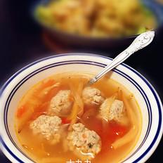 番茄黄花丸子汤的做法
