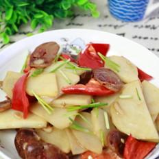 香肠炒土豆片
