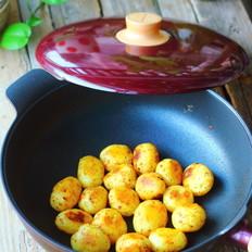 煎椒盐孜然土豆