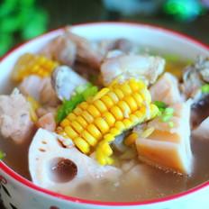 莲藕排骨玉米汤
