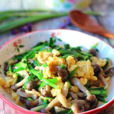 韭菜炒蟹味菇鸡蛋