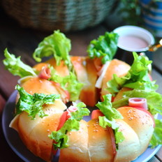 花环三明治面包