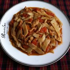 西红柿杏鲍菇炒肉