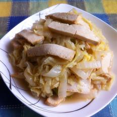 素炒白菜豆腐干