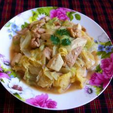 白菜豆腐炒肉
