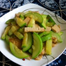素炒西葫芦豆腐