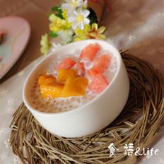 椰汁芒果西米露