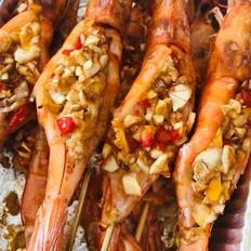 蒜蓉粉丝烤虾(一虾二吃)