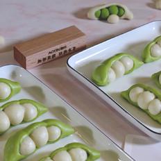 美食烹饪教程——菠菜汁豌豆馒头