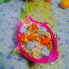 火龙果蛋炒饭