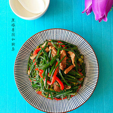 韭苔炒肉丝