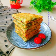 饺子皮香菜煎饼