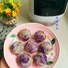 紫薯小米饭团
