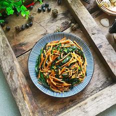 红菜苔炒馓子