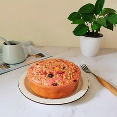 火龙果燕麦脆蛋糕