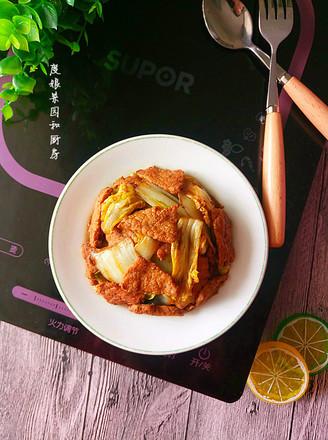 大白菜炒肉的做法