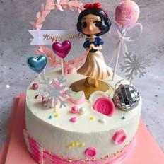 白雪公生日蛋糕