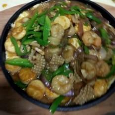 铁板海鲜日本豆腐