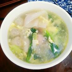 火锅丸青菜汤
