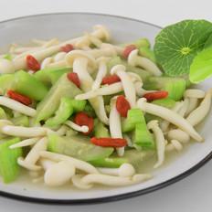 丝瓜烩白玉菇