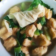 青菜油豆腐面结汤
