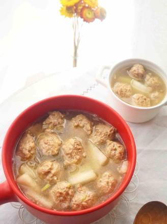 砂锅冬瓜丸子汤的做法